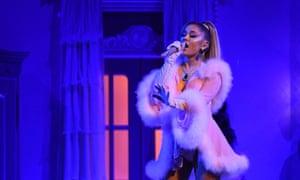 Ariana Grande performs 7 Rings.