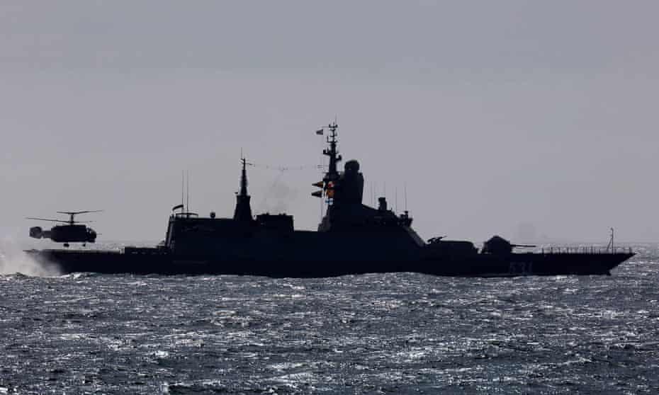 A Russian warship