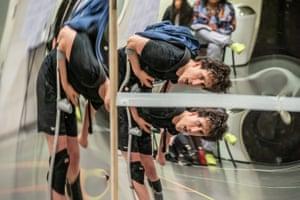 Daniel Monks in rehearsals.