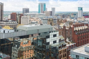 Birmingham city centre, where there is a boom in office construction.