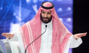 Saudi Crown Prince Mohammed bin Salman speaks during the Future Investment Initiative Forum in Riyadh in October