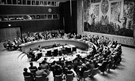 The UN holding a Security Council meeting in 1953