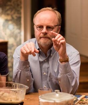 Dramatic hacking … the Alan Bennett-alike Malcolm Tanner (Jason Watkins) in Love, Nina.