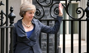 Theresa May arrives in Downing Street, London, for the final Cabinet meeting with David Cameron as Prime Minister.