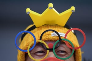 Outsized novelty glasses are an essential part of any Olympic fan's costume