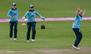 Sarah Taylor catches Hayley Matthews off the bowling of Anya Shrubsole.