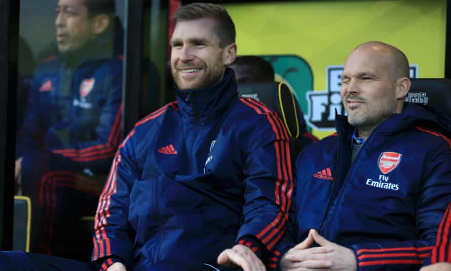 Academy manager Per Mertesacker has been helping Freddie Ljungberg with the first team