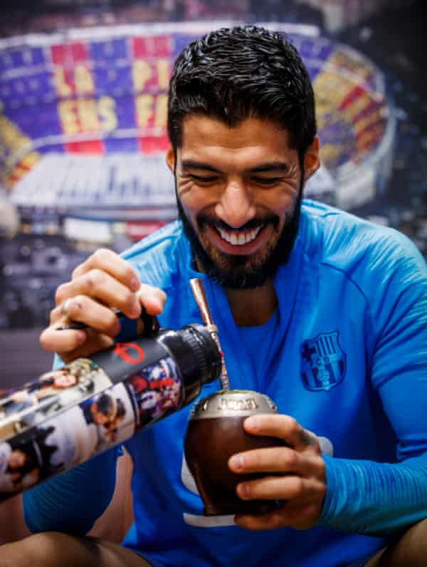 Suárez during the interview in Barcelona.
