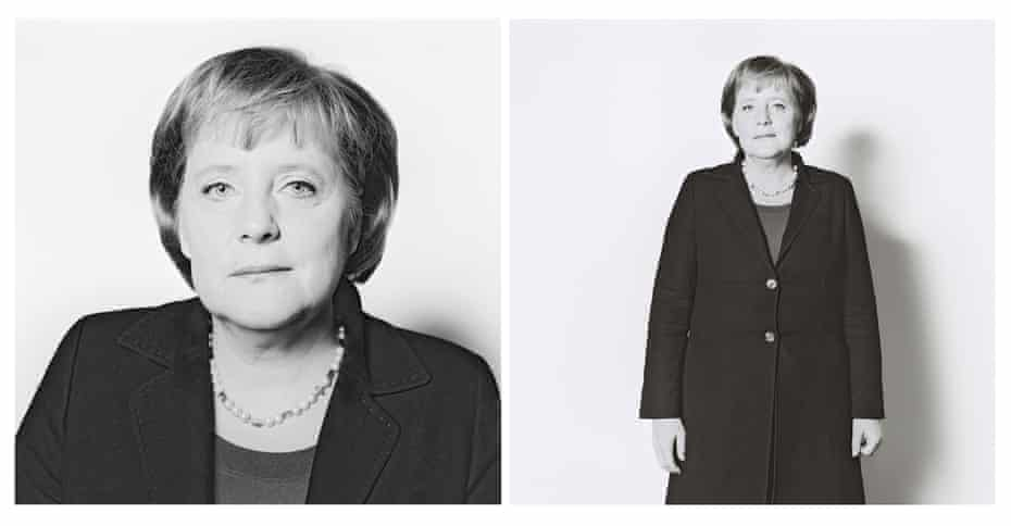 The portraits from 2006, the year after Merkel became Germany's first female chancellor.