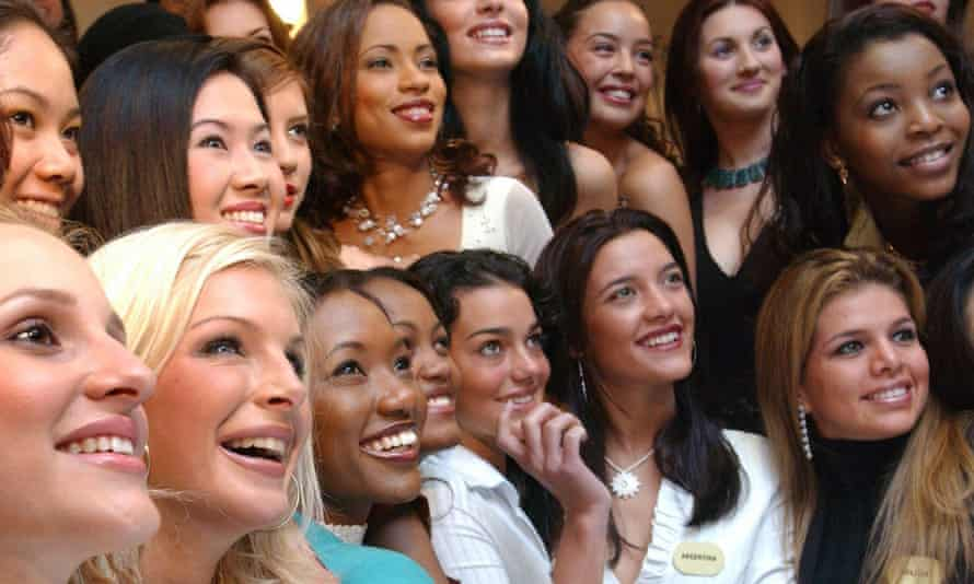 Contestants for a Miss World beauty pageant, pose for the cameras. While the beauty world is often accused of homogeny of looks, new research shows what is considered attractive in a face varies widely.