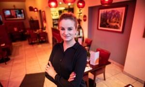 Sabina a Polish waitress who works at Duchniak's in Wakefield