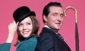 Patrick Macnee with his second Avengers co-star, Diana Rigg.