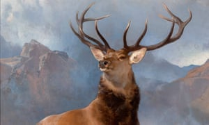 Edwin Landseer's The Monarch of the Glen, 1851 (detail; full image below).
