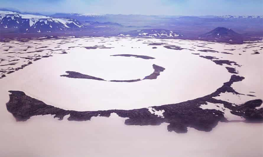 The former Okjökull glacier.