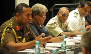 Brigadier General Jone Kalouniwai (left) has said the fight against Covid-19 would 'likely' violate individual rights and the rule of law.