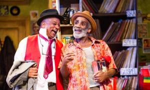 Jeffery Kissoon, left, and Larrington Walker on stage at the Birmingham Rep Theatre.