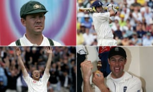 Ricky Ponting, Kevin Pietersen, Andrew Flintoff and Marcus Trescothick.