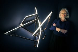 Dublin, Ireland: Artist Niamh Barry at the launch of her exhibition Light on Earth at the National Museum of Ireland, Collins Barracks
