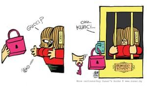 Zunar's cartoons often depict Rosmah Mansor, the wife of defeated PM Najib Razak, and her love of luxury goods.