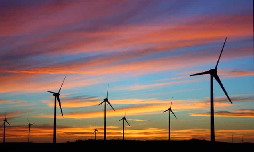 Mount Millar windfarm on the Eyre Peninsula, South Australia.