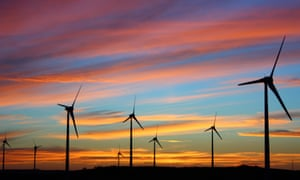 A windfarm at sunset. Research suggests sustainable funds are longer-lasting than their peers.