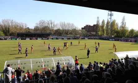 Dulwich Hamlet fans watch a game at Champion Hill.