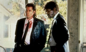 John Travolta and Samuel L Jackson in Quentin Tarantino's 1994 film Pulp Fiction.