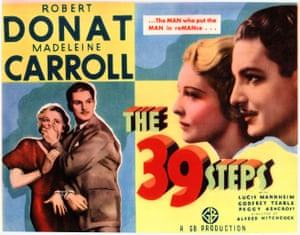 THE 39 STEPS [BR 1939] Directed by Alfred Hitchcock MADELEINE CARROLL, ROBERT DONAT