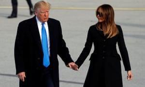 Donald and Melania Trump arrive in Ireland