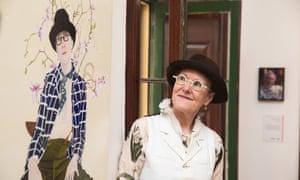 Lynn Savery with her Doug Moran prize-winning self-portrait.