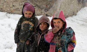 Afghan children at a refugee camp in Kabul in 2012.