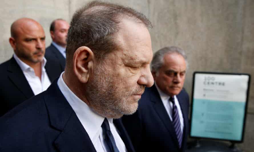 Weinstein leaves court.