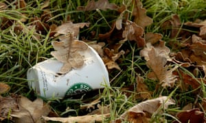 Discarded beverage cup<br>A7K3Y7 Discarded beverage cup