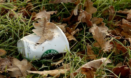 Discarded Starbucks cup