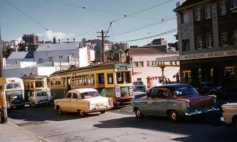 Congested streets in Double Bay in 1960
