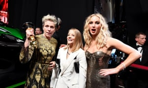 Frances McDormand, Jodie Foster and Jennifer Lawrence at the Oscars