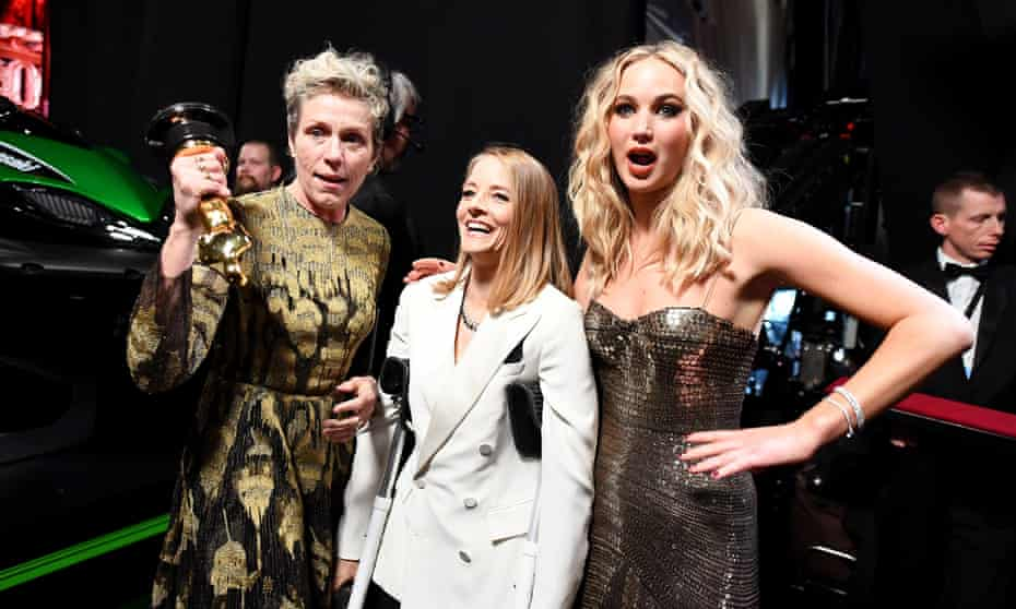 Frances McDormand, Jodie Foster and Jennifer Lawrence at the 2018 Academy