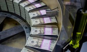 $20 bills being printed