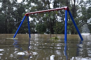 Submerged play equipment