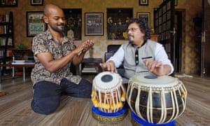 Soumik Datta with tabla player Bickram Ghosh.