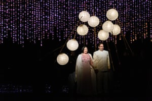 Natalya Romaniw (Cio-Cio San) and Dimitri Pittas (Pinkerton) in Madam Butterfly.
