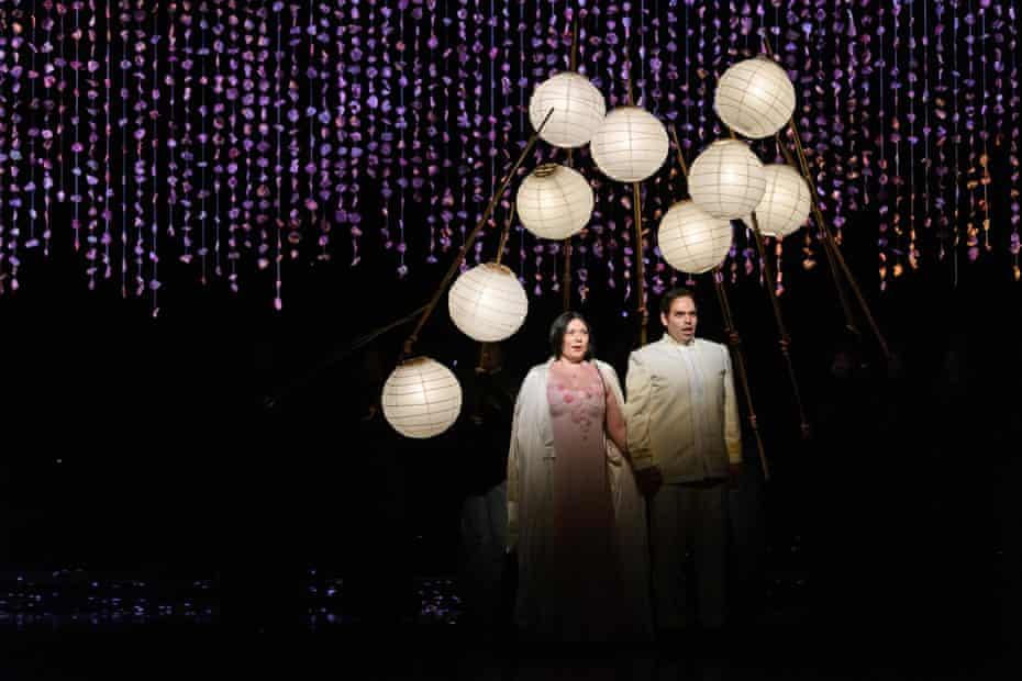 Natalya Romaniw (Cio-Cio San) and Dimitri Pittas (Pinkerton) in Madam Butterfly.