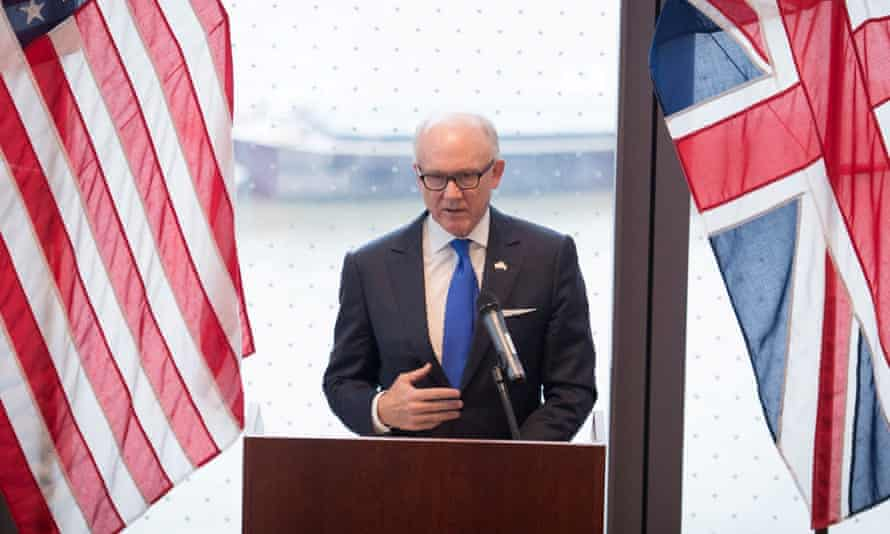 The US ambassador, Woody Johnson
