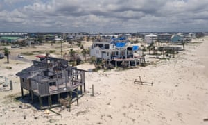 Seven months after Hurricane Michael made landfall near Mexico Beach, Florida, the town is still littered with heavily damaged and destroyed homes and businesses.
