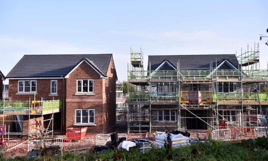 New homes being built in Congleton, Cheshire, November 2020.