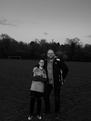 Heath Park Rangers U12's player James Ball and his father, coach and chair, Steve Ball.