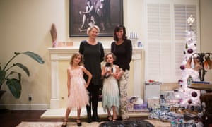 Kasey (right) with Karen (left) and their two daughters.