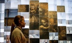 A view of the National Gallery's immersive Leonardo da Vinci exhibition.