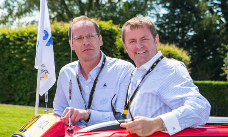 Christian Prudhomme (left) and Gary Verity in 2014