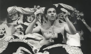 Wings of desire … Sean Chapman and Marcus d'Amico in the 1992 production of Angels in America.
